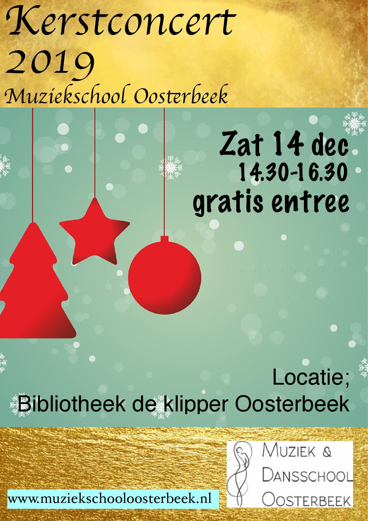 muziekschool oosterbeek kerstconcert